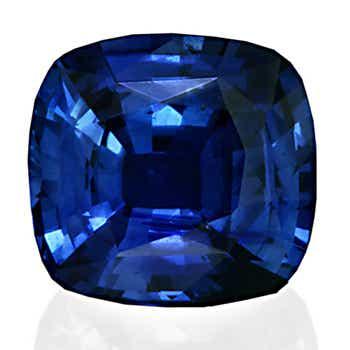 Cushion Sapphire Vivid Blue