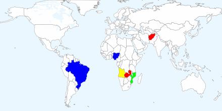 Origin Countries of Aquamarine