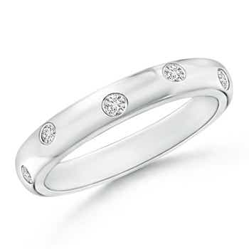 Zypsy-Set Round Diamond Half Eternity Band