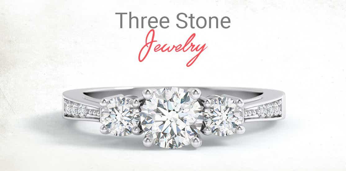 Three-Stone Diamond Jewelry