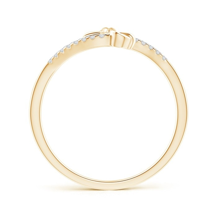 Split Diamond Knotted Twin Heart Ring