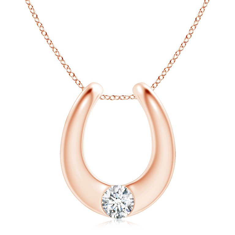 Gypsy Set Diamond Horseshoe Pendant